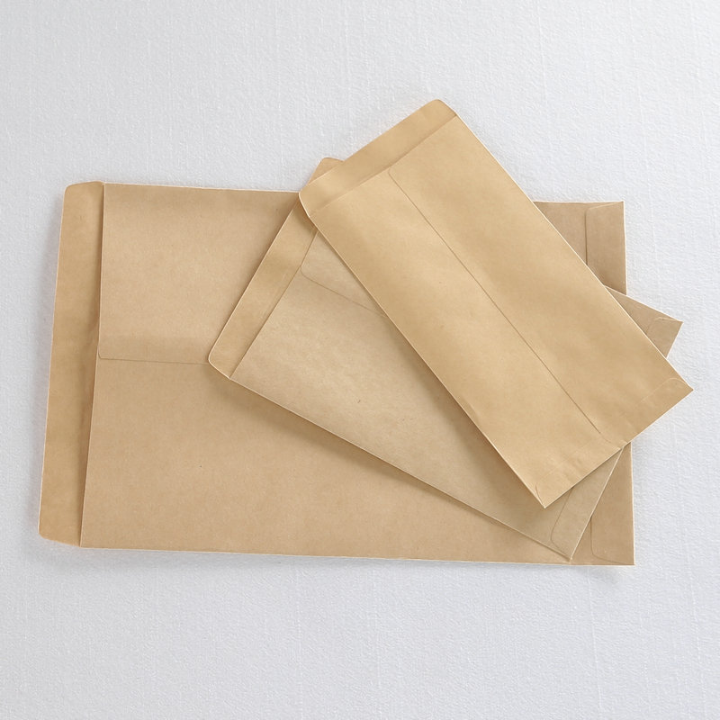 50pcs / Lot Kraft Envelope For A4 Size Paper Simple Clean Blank Envelope Simple Decorative Wedding Invitation Envelope Paper Bag