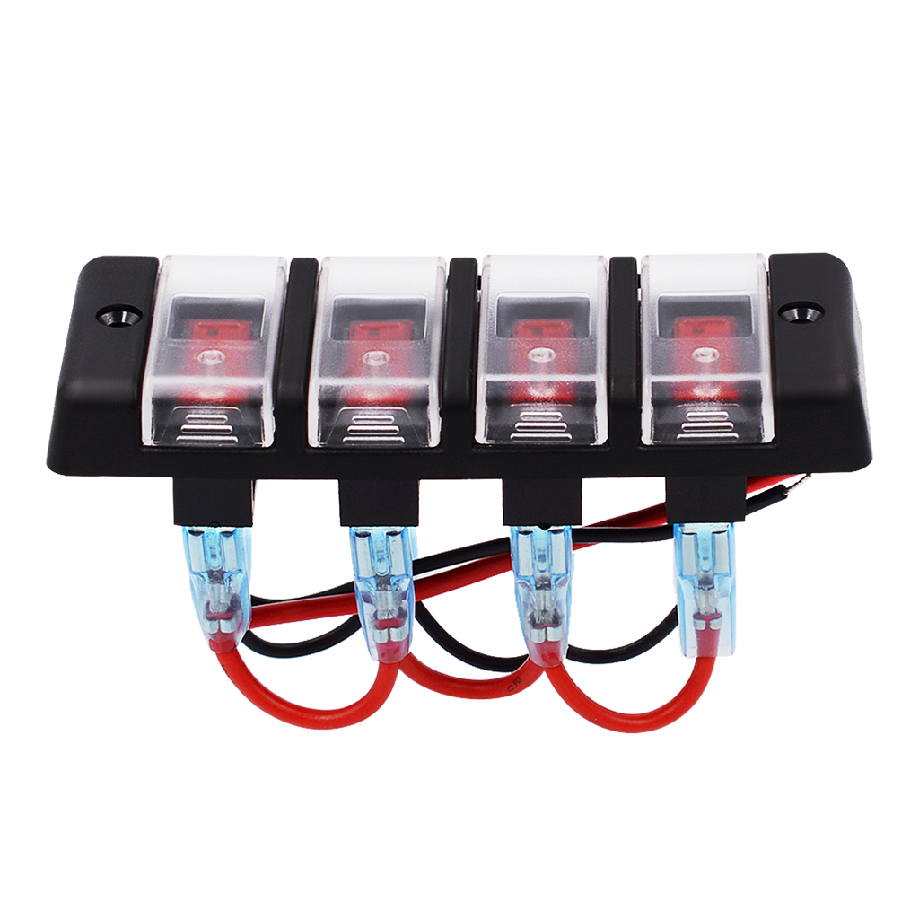 waterproof car and boat 4 gang12v panel red led switch circuit breaker with fuse in car switches relays from automobiles motorcycles on aliexpress com  [ 1024 x 1024 Pixel ]