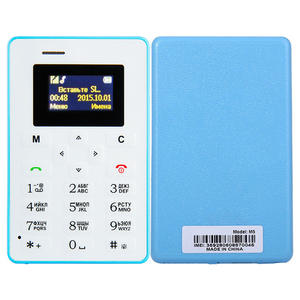 Aiek M5 Card Mobile Phone Mini Pocket Students Personality Ultra Thin Phone Bluetooth