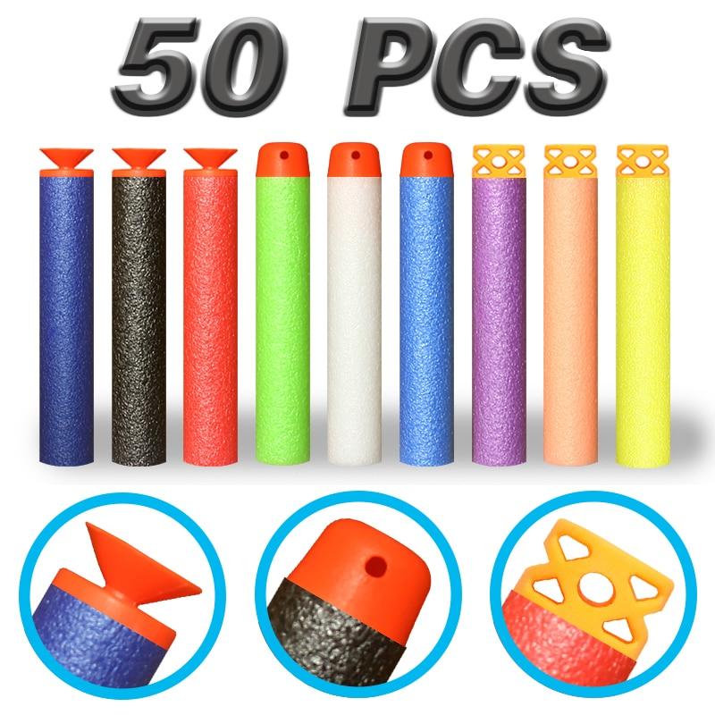 50pcs Refill Darts Spielzeugpistole Kugeln Weiche Kugel Wirbelwind - Outdoor-Spaß und Sport