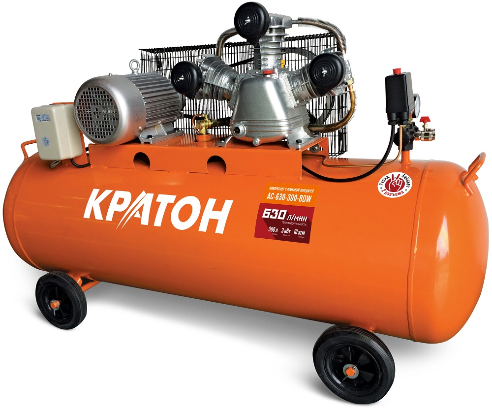Belt oil compressor KRATON AC-630-300-BDW compressor kraton with belt transmission ac 630 110 bdw