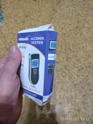 NEW Hot selling 2019  Professional Police Digital Breath Alcohol Tester 818  Breathalyzer AT818 Free shipping