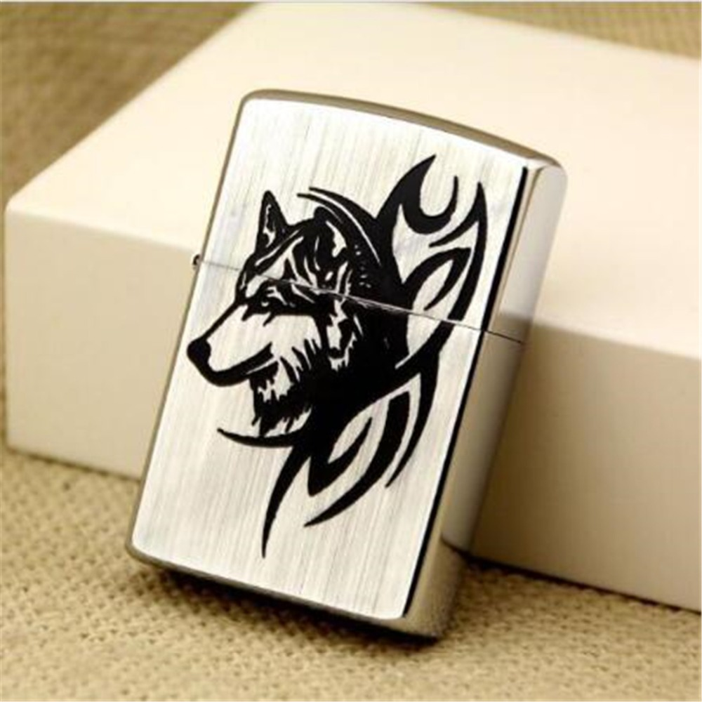 Z8015B sharp wolf pure copper high grade kerosene lighter Creative Personality Metal lighter gift for Men in Lighters from Home Garden