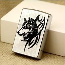 Z8015B sharp wolf pure copper high-grade kerosene lighter Creative Personality Metal gift for Men