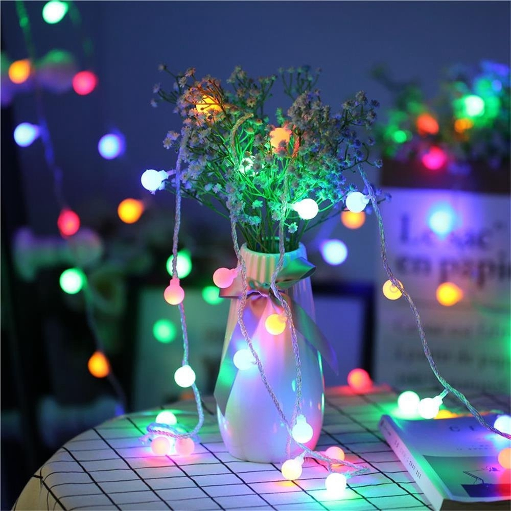Led Bulb String Light 10m 100 Christmas Indoor Outdoor Lights Tree