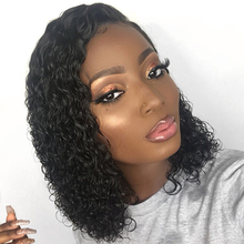 Short 13×6 Lace Front Human Hair Wigs Pre Plucked With Baby Hair Deep Part Curly Brazilian Remy Hair Lace Front Wigs 8-16″