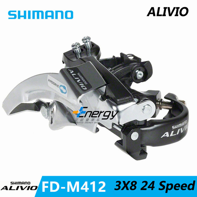 SHIMANO ALIVIO FD-M412 Front Derailleurs MTB Bike Mountain Bicycle Parts for 3x8S 24S Speed Transmission free shipping