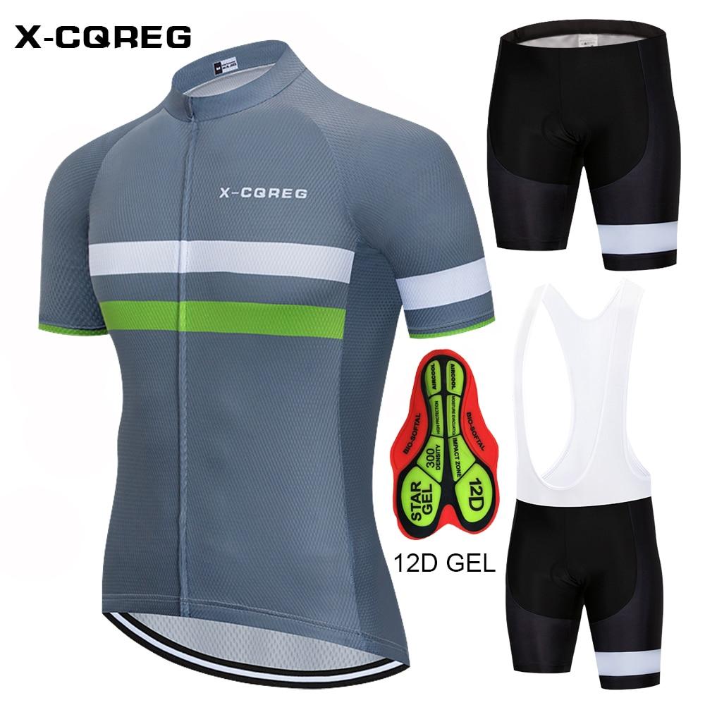 2018 Hot X-CQREG Brand Mens Bicycle Wear MTB Cycling Clothing Cycling Sets Bike Cycle Shirt Summer Male Cycling Jersey Set цена