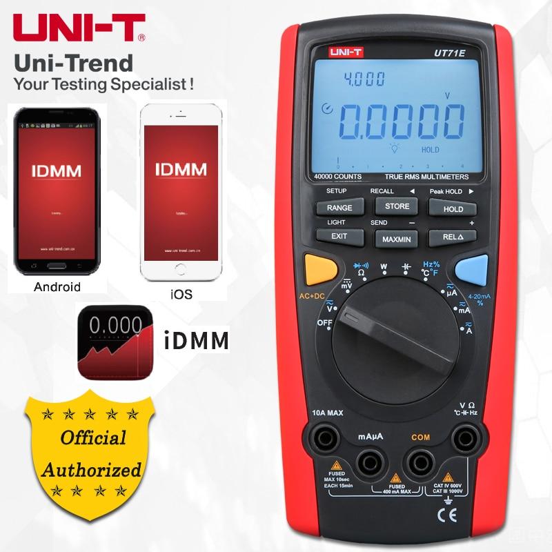 UNI-T UT71A/UT71B/UT71C/UT71D/UT71E Middle Size Intelligent Digital Multimeters; Digital Multimeter, USB/Bluetooth Communication запчасти для автоматических столов emi