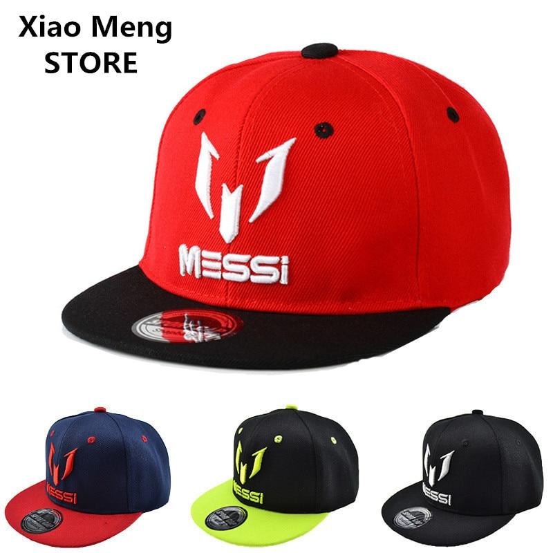 2017 High Quality Argentina Football MESSI Baseball Caps Boys Girls Kids  Children Adjust Soccer Messi Snapback Hip Hop Hat M18 ef54bdb0b9a