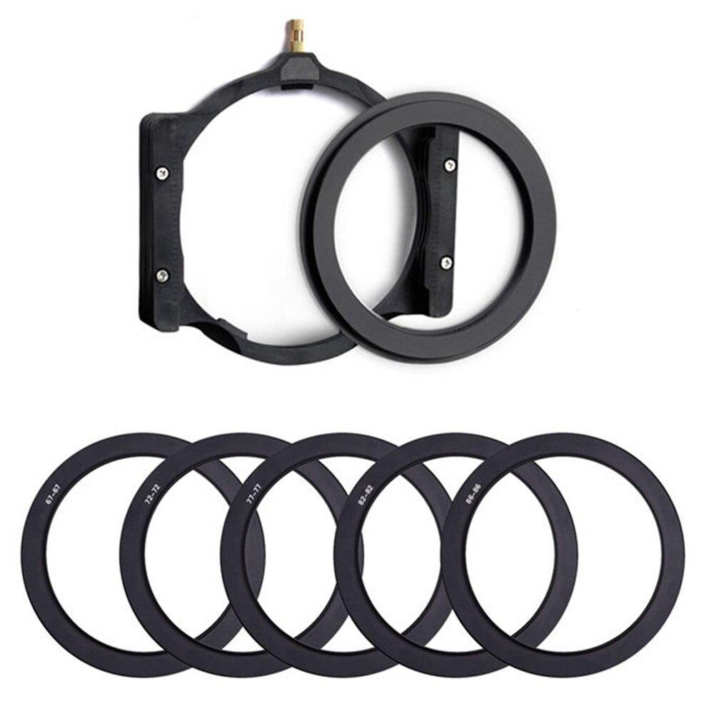 Soporte de filtro cuadrado de cámara para caminar y anillo adaptador 67/72/77/82mm 86 para filtro de cámara Hoya Zomei Nisi Cokin Berno Lee 100mm