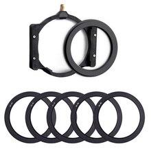 Support de filtre carré de caméra de marche et anneau adaptateur 67/72/77/82/86mm pour Hoya Zomei Nisi Cokin Berno 100mm filtre de caméra