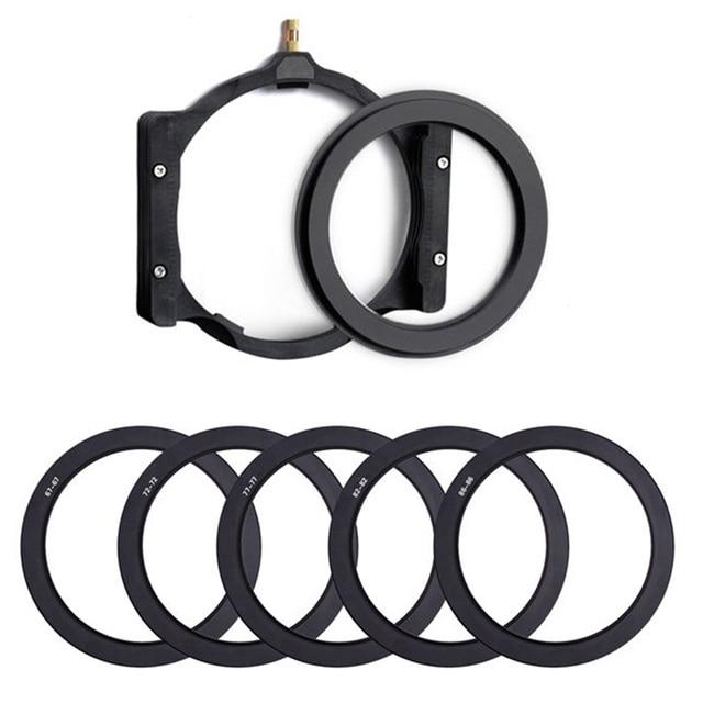 Walking Way Camera Square filter holder & 67/72/77/82/86mm adapter Ring for Hoya Zomei Nisi Cokin Berno 100mm Camera filter