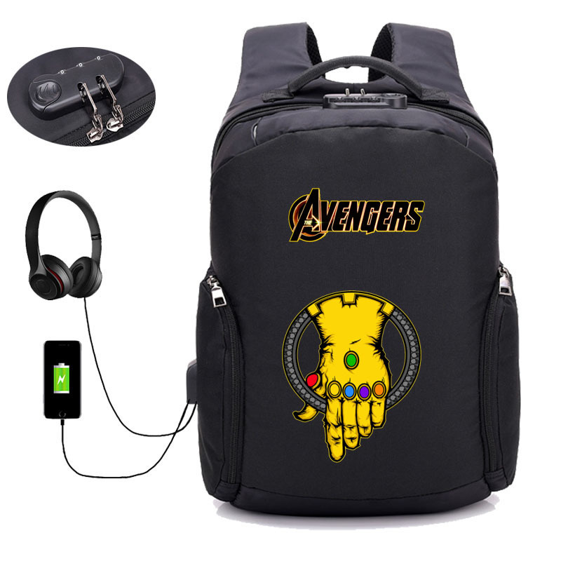 Comics USB Charging Men women Laptop Anti Theft Backpacks Teenager Male Mochila Leisure Travel bag student
