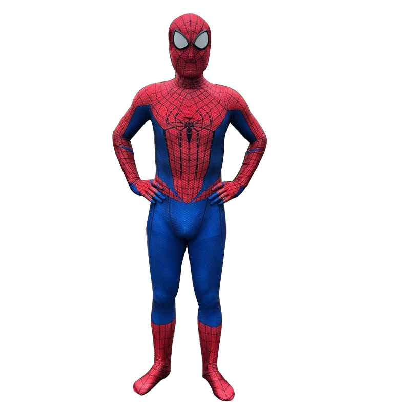 free shipping spiderman generation 1 Homecoming  Cosplay Costume Anime Full Bodysuit for Halloween party for kids adult