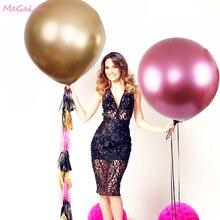 1PC 36 cali Rose Red ogromne okrągłe metaliczne balony dekoracje ślubne gigantyczne lateksowe balony Birthday Party zabawki dla dzieci duże złote Globos