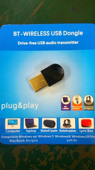 Wireless USB Bluetooth Adapter for Computer Wireless Headset Bluetooth  Speaker CSR 4 2 Free driver Bluetooth Dongle/Receiver