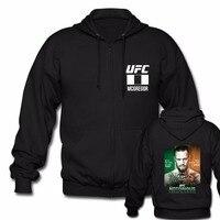 Connor McGregor Notorious UFC Zipper Black Long Sleeve Hoodies Hip Hop Streetwear Unisex Jackets Hot Fashion Hoody Oversize tops