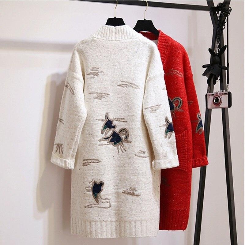3 5 Manteau Veste 4 Femme Pour Ta1046 2 Femelle Automne Tricoté 2018 1 Femmes Cardigan Tricots Dames Survêtement Vestes Hiver HpfX4