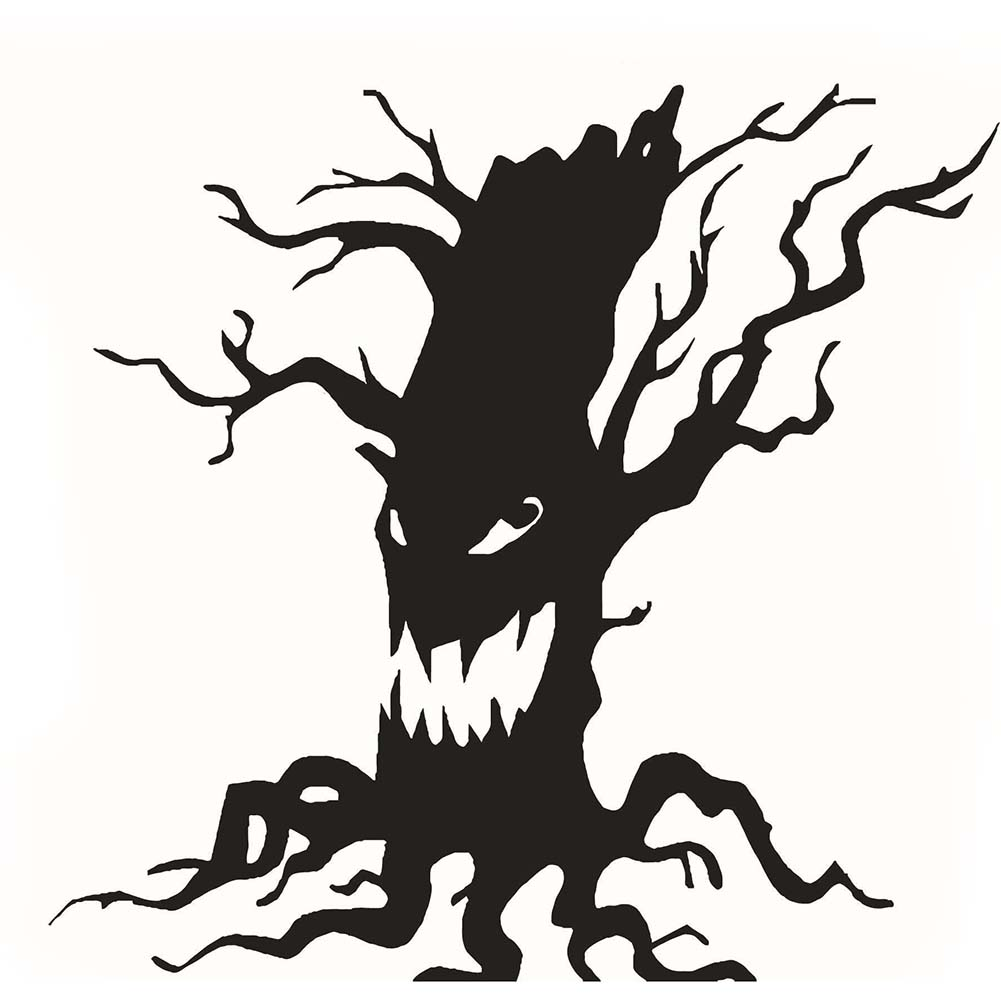 wall sticker halloween tree home decor vinyl removable art wall decal for children bedroomchina - Black Halloween Tree