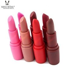 Miss Rose Brand 7colors Hot Sale Matte Lipstick Velvet High Quality Waterproof Long Lasting Lipstick Brand Makeup