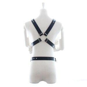 Image 5 - Leather Harness Belt Man Bdsm Bondage Pastel Goth Fantazi Seks gg Belt Gothic Punk Cinturon Mujer Wedding Garter Suspenders