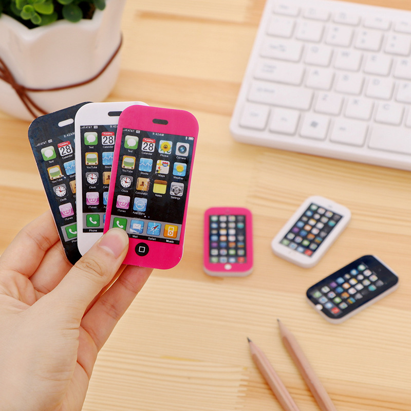 30pc/lot Mobile Phone Model Erasers/creative Stationery/cute Nice Rubber Eraser/children Gift/school Supplies