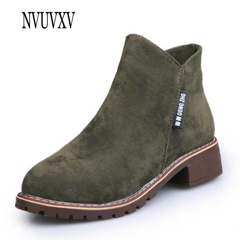 0e64ccb46 2019 Venta caliente invierno impermeable mujeres calientes botines moda bota  plana zapatos de las mujeres de