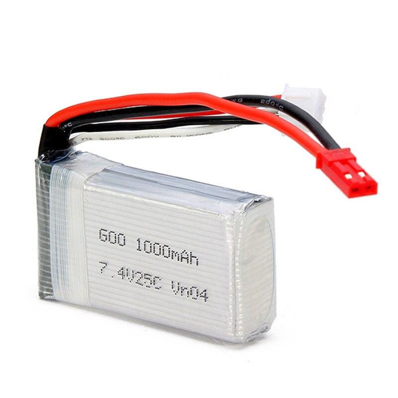 Venta caliente mjx X600 X601H RC hexacopter piezas de repuesto 7.4 V 1000 mAh 25C batería de actualización