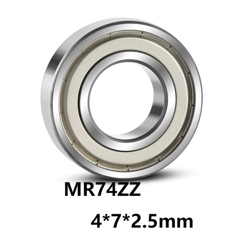 5pcs/lot MR74ZZ Deep Groove Ball Miniature Mini Bearings MR74ZZ MR74-ZZ 4*7*2.5mm  4*7*2.5 Bearing Steel Material(China)