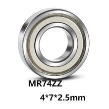 5 шт./лот MR74ZZ Миниатюрные Мини подшипники с глубоким желобом MR74ZZ MR74-ZZ 4*7*2,5 мм 4*7*2,5 подшипник из стали