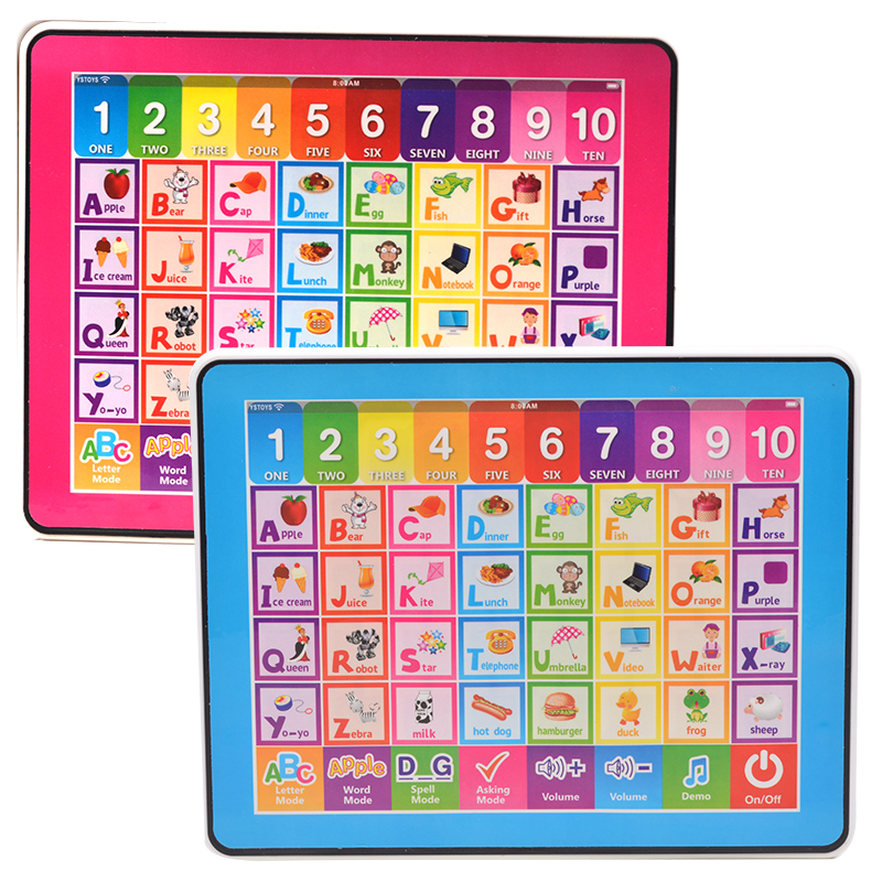 English Language Childrens Tablet Computer For Kinds Learning Book Educational Toys Learning Machine Table Toys with Music