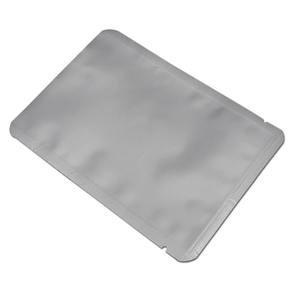 Clear Silver Pure Aluminum Foil Bag Round Corner Heat Seal Vacuum Pouch