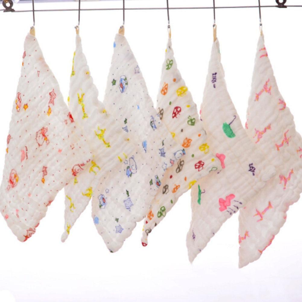 Baby Cotton Gauze Face Towel Baby Towel Wash Cloth Handkerchiefs Infant Baby Feeding Saliva Towels
