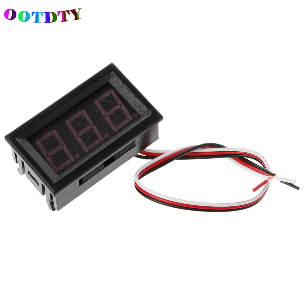 OOTDTY Mini Red LED Display Panel Meter Digital Voltmeter DC 0V-99.9V