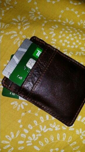 JOYIR Super Slim Travel Card Wallet Genuine Leather ID Credit Card Holders Mini Men Women Business Card Holders Unisex Card Case photo review