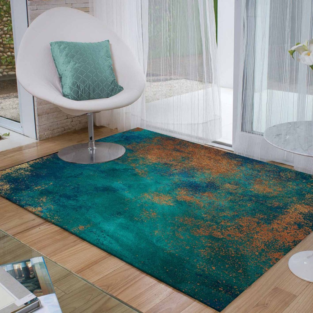 Else Brown Floor Green Aging Vintage Abstract 3d Print Non Slip Microfiber Living Room Decorative Modern Washable Area Rug Mat