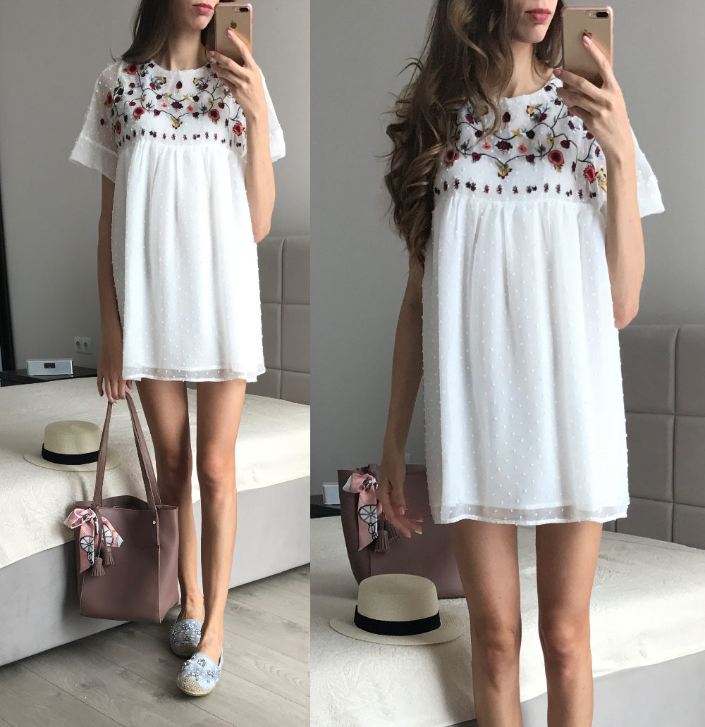 Платье-комбинезон с вышивкой с Алиэкспресс