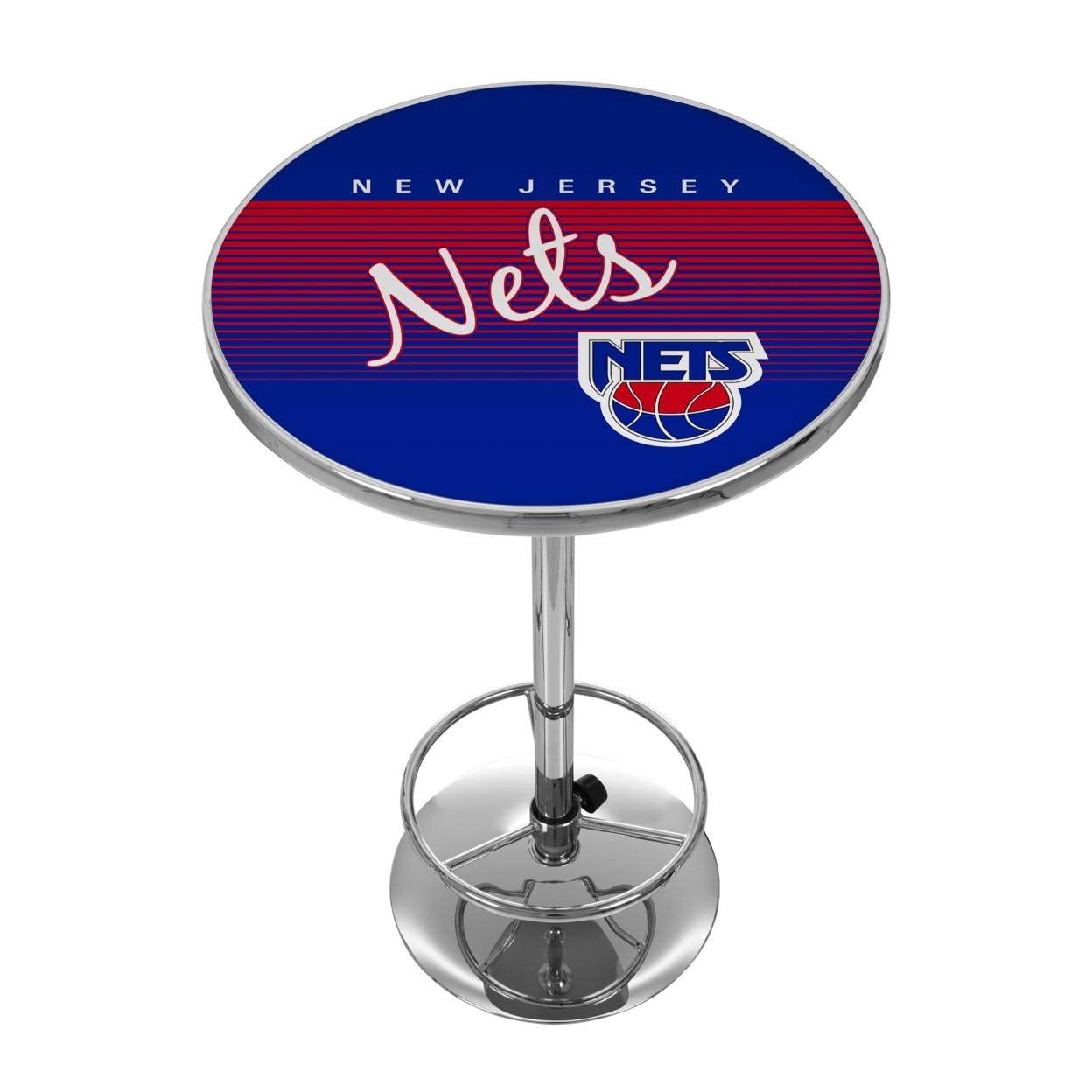 New Jersey Nets Hardwood Classics NBA Chrome 42 Inch Pub Table brooklyn nets nba property of hoodie purse