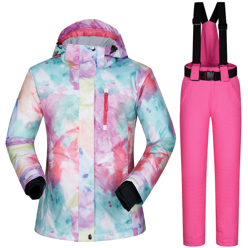2018 Womens Ski Suit Snowboard Clothes Waterproof Winter Outdoor Snow Ski Jackets And Pants Skiing And Snowboarding Jacket Women 2018 new lover men and women windproof waterproof thermal male snow pants sets skiing and snowboarding ski suit men jackets