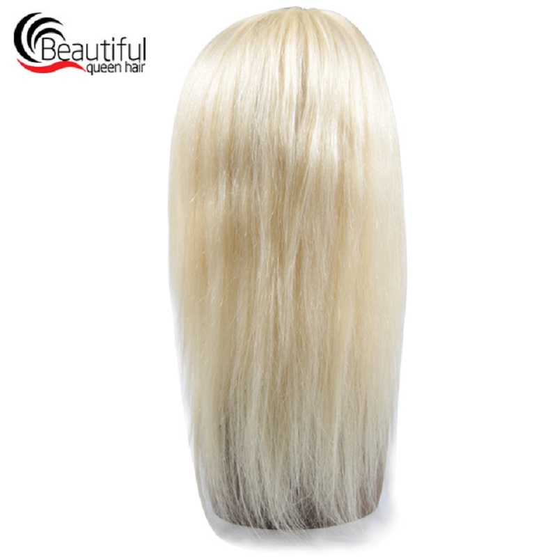 Beautiful Queen Peruvian Human Hair Wig Straight Full Lace Wigs #613 130 Density Remy Hair Wig Swiss Lace Wigs 10-24 Inch(China)
