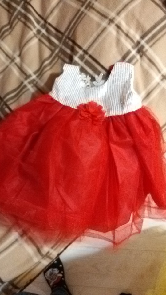 Luxury Festive Sequined Baby Girl's Dress photo review