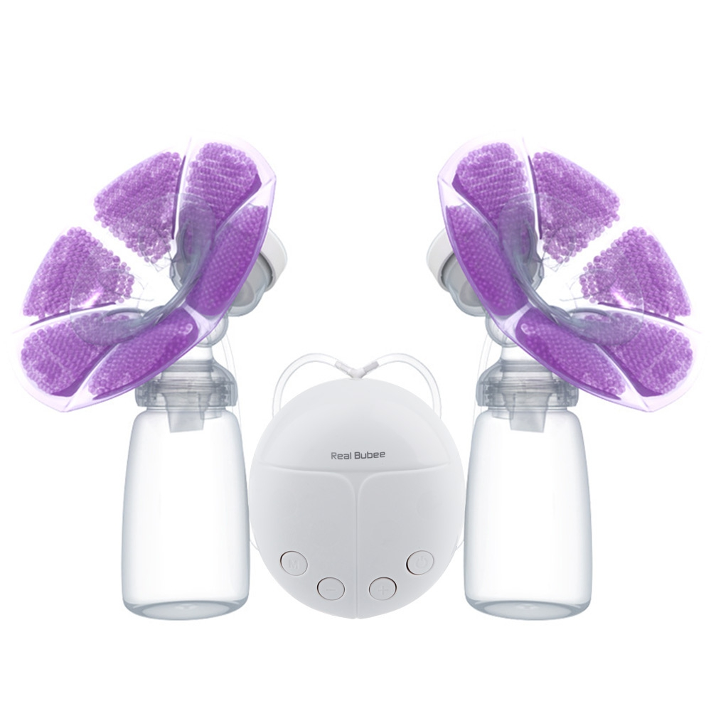 RealBubee Powerful Single/Double Electric Breast Pump Intelligent Microcomputer USB Electric Breast Pump Baby Breast Feeding