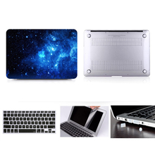 For MacBook 15 Hard Case , For Air 11 13 Pro Reitna Touchbar 12 13 15 Hard Case Cover+Keyboard Cover+Screen protector+Dust Plugs