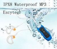 4 GB/8G Wasserdichte IPX8 MP3 Player Unterwasser Sport Clip MP3 Mit FM Schwimmen Tauchen Kopfhörer