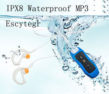 4 GB/8G impermeable IPX8 MP3 reproductor submarino deportes Clip MP3 con auriculares de buceo FM