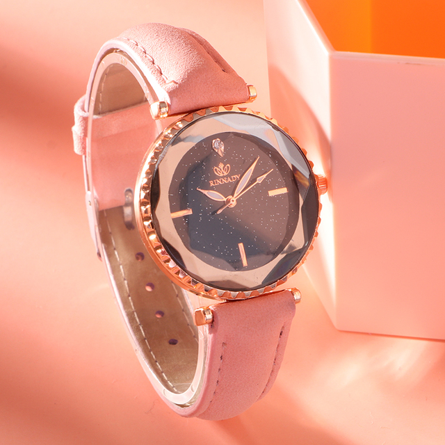 Women Brand Top Luxury Leather Watches Ladies Fashion Rose Gold Dress Quartz Wri