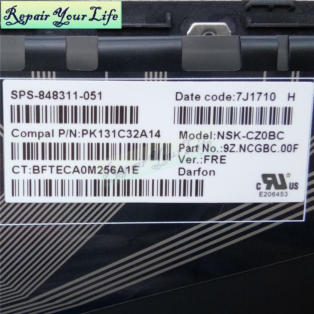 Клавиатура для ноутбука HP PK131C32A14 9Z.NCGBC.00F FR, Французская клавиатура с подсветкой, Оригинальная Черная/серая рамка, ремонт You Life