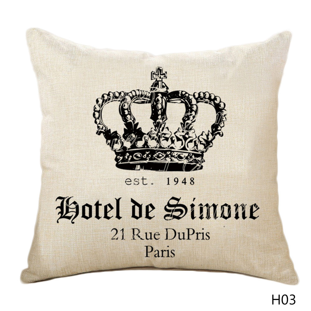 Decorative King Pillow Cases : 1 Pcs Royal Crown Pillow Cases Queen and King Designer Pillow Covers Decorative Couple Pillow ...