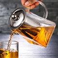 3 größen wasserkocher glas Teekanne Tee Topf Wirtschafts Wärme Beständig borosilikatglas Tee Kaffee Sieb Home restaurant tee utensilien Teekannen Heim und Garten -